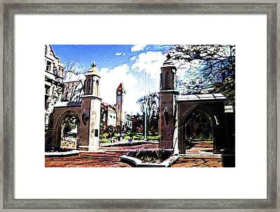 Indiana University Gates Framed Print