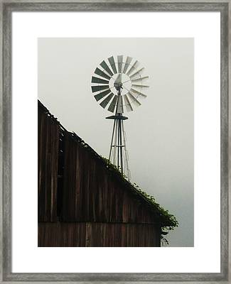 Indiana Windmill Framed Print by Joyce Kimble Smith