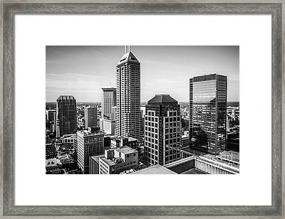 Indianapolis Aerial Black And White Photo Framed Print