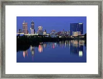Indianapolis Blue Hour Framed Print by Frozen in Time Fine Art Photography