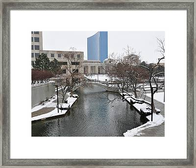 Indianapolis Canal Framed Print by Beverly Cazzell