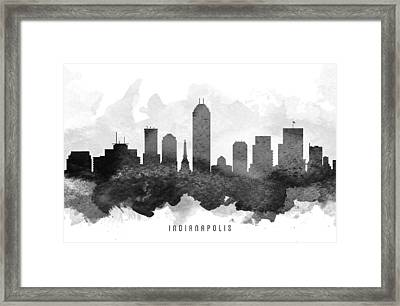 Indianapolis Cityscape 11 Framed Print