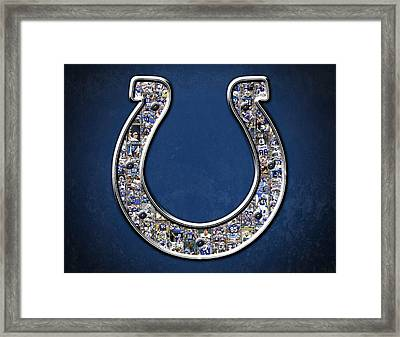Indianapolis Colts Framed Print by Fairchild Art Studio