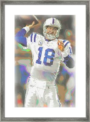 Indianapolis Colts Peyton Manning 2 Framed Print