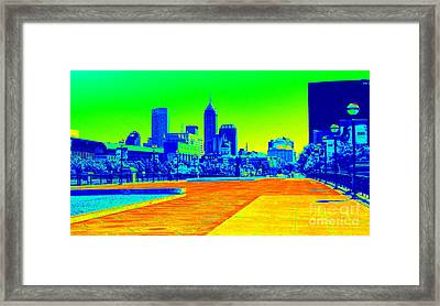 Indianapolis Heat Tone Framed Print
