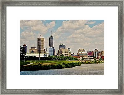 Indianapolis Skyline 25 Framed Print by David Haskett