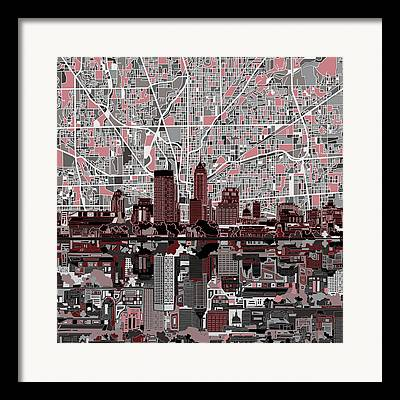 Indiana Images Digital Art Framed Prints
