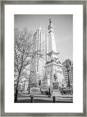 Indianapolis Soldiers And Sailors Monument  Framed Print by Paul Velgos
