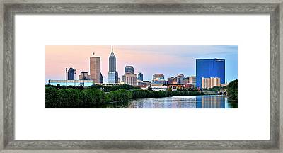 Indianapolis Wide Angle Framed Print by Frozen in Time Fine Art Photography