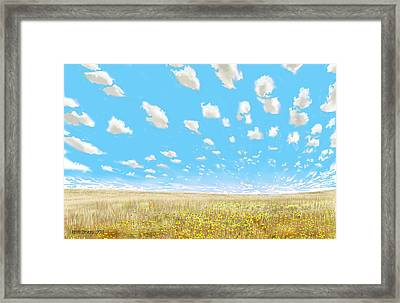 Framed Print featuring the digital art Indianola by Kerry Beverly
