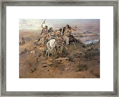 Indians Discovering Lewis And Clark Framed Print