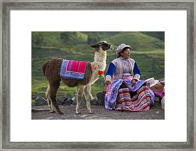 Indigena Framed Print by Christian Heeb