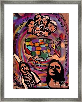 Indigenous America 101 Framed Print by Tony B Conscious