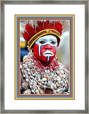 Indigenous Woman L B With Alt. Decorative Ornate Printed Frame. Framed Print