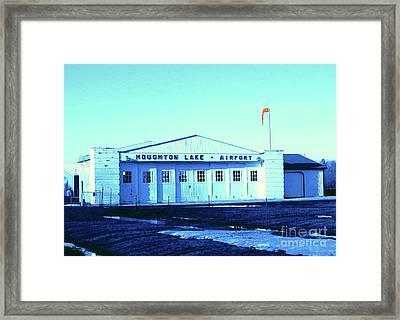 Indigo Airport Framed Print