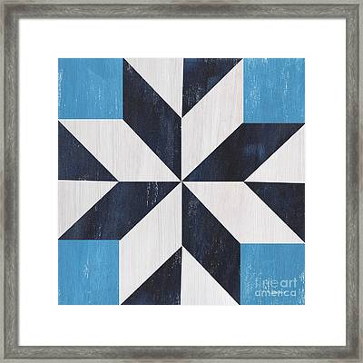 Indigo And Blue Quilt Framed Print