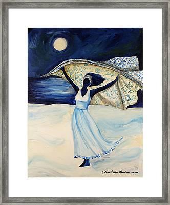 Indigo Beach Framed Print