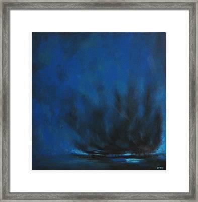 Indigo Framed Print by Ellen Lewis