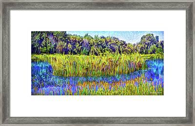 Indigo Lake Reflections Framed Print by Joel Bruce Wallach
