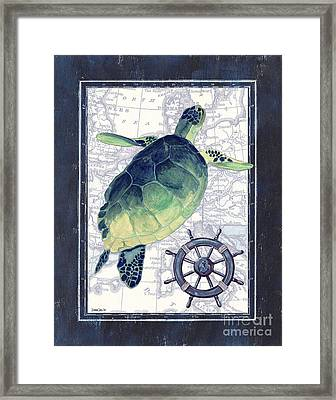 Indigo Maritime 1 Framed Print by Debbie DeWitt