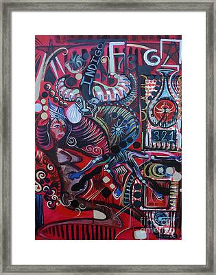 Indigo Framed Print by Michael Kulick