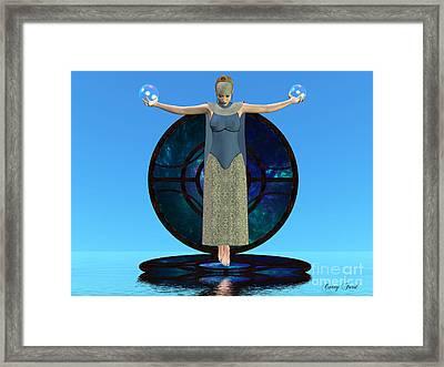Indigo Mood Framed Print