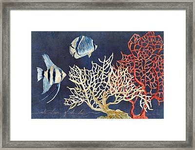 Indigo Ocean - Silence Of The Deep Framed Print by Audrey Jeanne Roberts