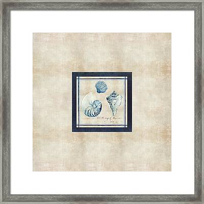 Indigo Ocean - Song Of The Sea Framed Print by Audrey Jeanne Roberts