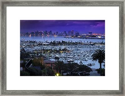 Indigo San Diego Framed Print