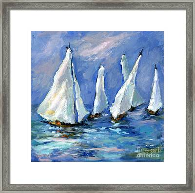 Indigo Seas Framed Print