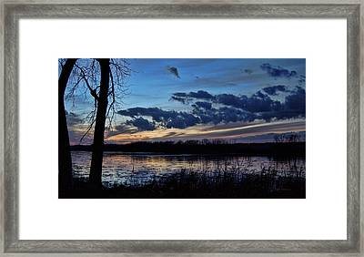 Framed Print featuring the photograph Indigo Skies by Cricket Hackmann