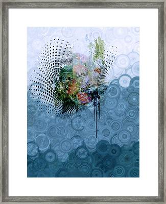 Indigo Splash Framed Print