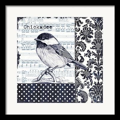 Bird Singing Framed Prints