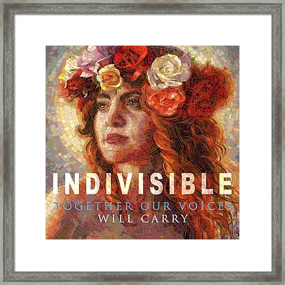 Framed Print featuring the glass art Indivisible by Mia Tavonatti