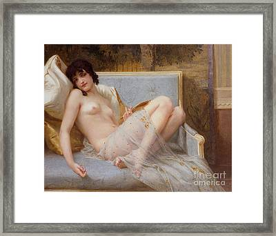 Indolence Framed Print by Guillaume Seignac