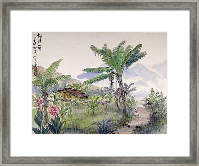 Indonesia Village Framed Print by Ying Wong