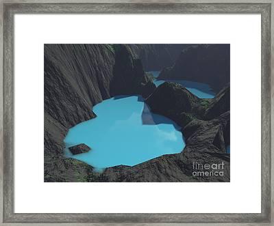 Indonesian Crater Lakes Framed Print by Gaspar Avila