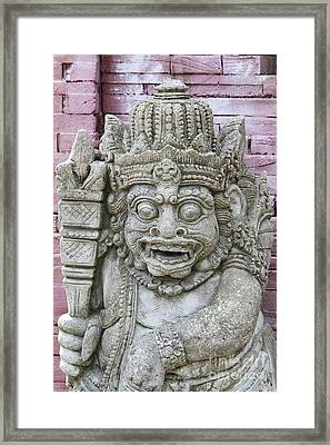Indonesian Statue #2 Framed Print