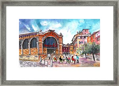 Indoor Market In Albi Framed Print