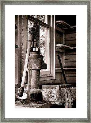 Indoor Plumbing Framed Print