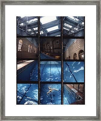 Indoor Pool Framed Print by Steve Williams