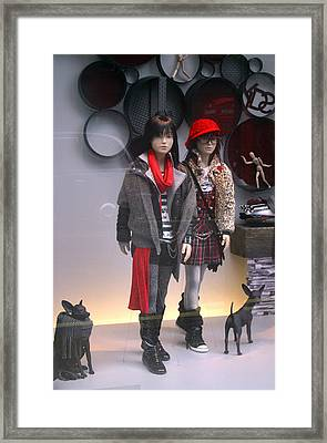 Indoor Walking Framed Print by Jez C Self