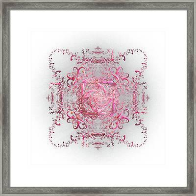 Indulgent Pink Lace Framed Print by Rosalie Scanlon