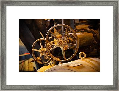 Custer Dredge Framed Print by Leland D Howard
