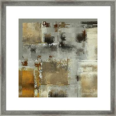 Industrial Abstract - 24t Framed Print by Variance Collections