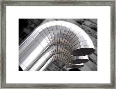 Industrial Air Ducts Framed Print by Henri Irizarri