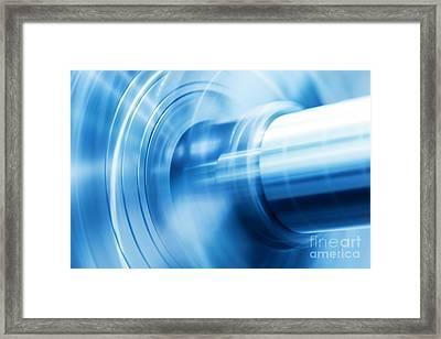 Industrial Background Framed Print