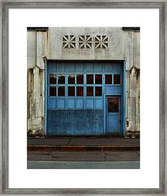 Industrial Blue Framed Print