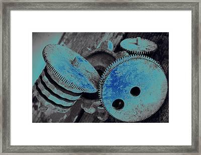 Industrial Blues Framed Print by Marnie Patchett