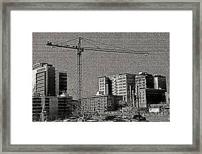 Industrial Crane 2 Framed Print